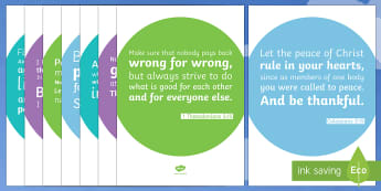 Bible Verses About Peace Display Posters