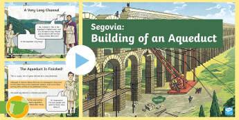 Segovia Aqueduct PowerPoint - Roman Spain, Ancient Rome, Building, Cuarto Curso Primaria, Social Science, Ciencias Sociales, Acued