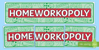 Homeworkopoly Display Banner