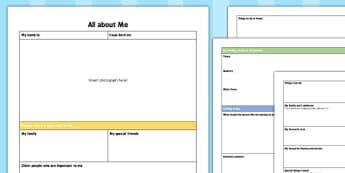 Childminders Parent Questionnaire All About Me for Babies - parent