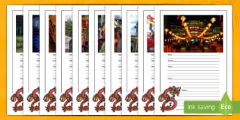 Chinese New Year Picture Writing Prompt Frame-Australia - China, Celebration, Descriptive writing, English Curriculum, Around the World,Australia