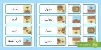 بطاقات كلمة لغة المكان: همبتي دمبتي  - بطاقات كلمات اللغة المكانية  - الموضع، الموضعية، اللغة