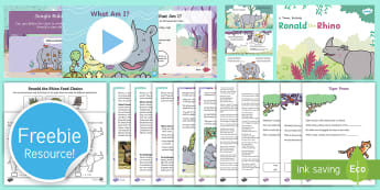 Free Originals Taster Resource Pack - freebie, bumper, sample, taste, tester, test, try, story, stories, ronald the rhino