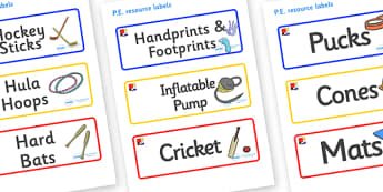 Mondrian Themed Editable PE Resource Labels - Themed PE label, PE equipment, PE, physical education, PE cupboard, PE, physical development, quoits, cones, bats, balls, Resource Label, Editable Labels, KS1 Labels, Foundation Labels, Foundation Stage L