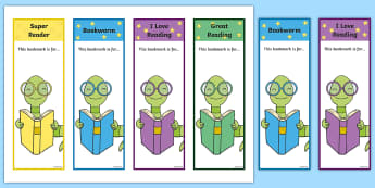 Editable Bookworm Bookmarks - Editable Bookworm Bookmarks, bookworm, editable,  Bookmark, bookmark template,  gift,  present, book, reward, achievement