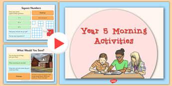 Year 5 Morning Activities - year 5, morning activities, morning, activity, supply, teacher
