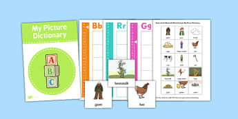 Jack and the Beanstalk Picture Dictionary and Word Card Set