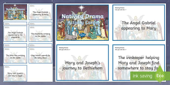 Nativity Drama Challenge Cards - Christmas, Xmas, Christianity, Beliefs, December,Scottish