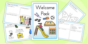 Foundation and Pre Primary Welcome Pack - New Class Activities