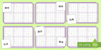Coordinates Bingo - Position, direction, coordinates, Plot specified points and draw sides to complete a given polygon,