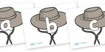 Phoneme Set on Cowboy Hats - Phoneme set, phonemes, phoneme, Letters and Sounds, DfES, display, Phase 1, Phase 2, Phase 3, Phase 5, Foundation, Literacy