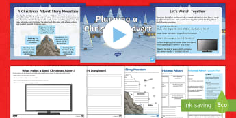 KS2 Planning a Christmas Advert Lesson Pack - creative writing, storyboard, xmas, john lewis, moz the monster, buster the boxer, m&s, marks and sp