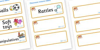 Tiger Themed Editable Additional Resource Labels - Themed Label template, Resource Label, Name Labels, Editable Labels, Drawer Labels, KS1 Labels, Foundation Labels, Foundation Stage Labels, Teaching Labels, Resource Labels, Tray Labels, Printable la