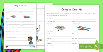 New Zealand Back to School, Child Survey Worksheet / Activity Sheet - New Zealand Back to School, worksheet, back to school,