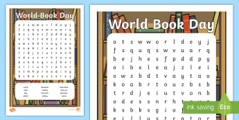 KS1 World Book Day Word Search - wordsearch, world day activity, world book day busy work, world book day guided reading, world bookd