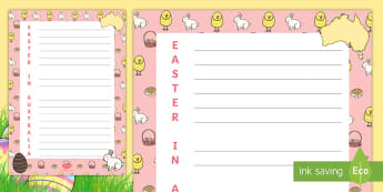 Easter in Australia Acrostic Poem - Poetry, imagination, words, write, bunny,