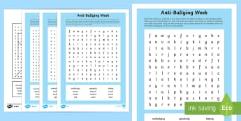 KS2 Anti-Bullying Week Word Search