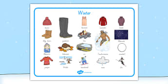 New Zealand Winter Word Mat