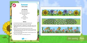 Summer Sensory Bottle - Summer, calming, calm down bottle, grass, gold, glitter, glue, senses, play, explore