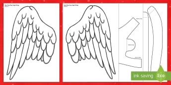 Angel Wings Role Play Cut-Outs - angel, angle, printable, role-play, rol eplay, wings, nativity, chirstmas, christmas, play, drama, c