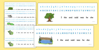 Alphabet Strips Nature Lifecycle - Alphabet, Numbers, Learning letters, Writing aid, Writing Area, Counting, Numberline, Number line, Counting on, Counting back