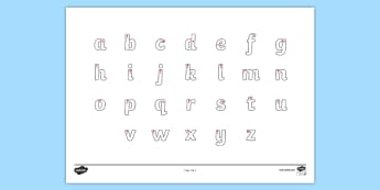 Letter Formation Alphabet Handwriting Sheet Lowercase - alphabet