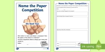 Class Newspaper Design Additional Resources - school newspaper, inclusion, community, writing, designing, Scottish