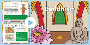 KS1 Buddhism Activity PowerPoint - Buddhist, Quiz, Interactive, Game, Activities