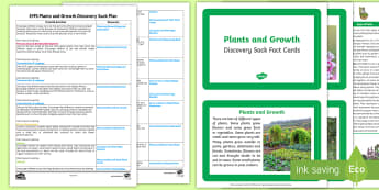 *NEW* EYFS Plants and Growth Discovery Sack Plan and Resource Pack - discovery sack, plant, flower