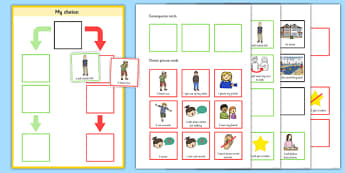 My Choice Editable Behaviour Chart - my choice, behaviour, chart