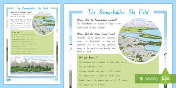 The Remarkables Ski Field Fact File - New Zealand, Winter, Seasons, Mountains, reading, non-fiction