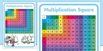 Winter Themed 1 to 120 Multiplication Square - Winter Themed 1-100 Multiplication Square - winter, themed, 1-100, multiplication, square, number sq