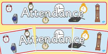 Attendance Display Banner - attendance, display banner, display