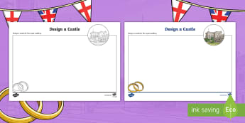 KS2 Design a Royal Castle Activity Sheet - prince harry and meghan markle, prince and princess, the royal family, palace, royal wedding, marria