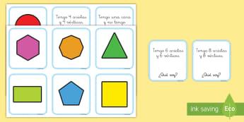 Tarjetas de emparejar: Figuras 2D - figuras 2D, figuras planas, formas plana, formas geométricas, figuras geométiras, emparejar, parej