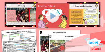 RE: The Christmas Story: Interpretation Year 6 Lesson Pack 2