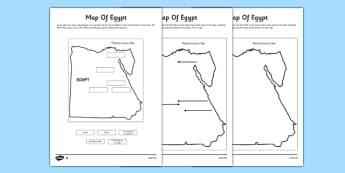 KS Ancient Egyptians Primary Resources Page - Map of egypt ks2