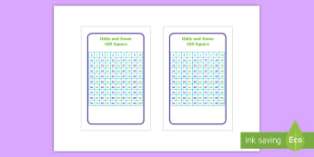100 square odds and evens IKEA Tolsby Frame - 100 Square Odds and Evens IKEA Tolsby Frame - Number square, hundred square, Counting, Numbers 0-100