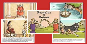 Povestea lui Romulus și Remus - Planșe - Romului, Remus, poveste, romani, Roma, antichitate, planșe, istorie, materiale, materiale didactice, română, romana, material, material didactic