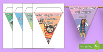 Reading Prompts and Questions Display Bunting - Prompts, Questions, Display, Bunting, classroom, reading area