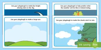 The Weather Station Aistear Playdough Mats - ROI, Aistear, The Weather Station, Playdough Mats, Playtime,Irish