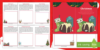 Foundation Phase Christmas Inference and Understanding Activity Booklet -christmas, y1, y2, reading skills, writing activity, stimulus, stimuli, xmas, drawing, draw a text