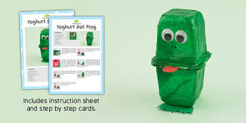 Yoghurt Pot Frogs Craft Instructions - craft, instructions, frogs
