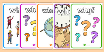Who What Where When Display Posters - Reading, reading prompt, who, what ,where, when, guided reading, reading question, reading questions, parent, parents, reading comprehension, guided reading questions