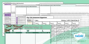 History: World War II LKS2 Unit Assessment Pack