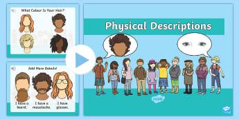 Παρουσίαση με ήχο στα Αγγλικά: Φυσικές Περιγραφές - περιγραφή, ο εαυτός μου, myself,  physical, description