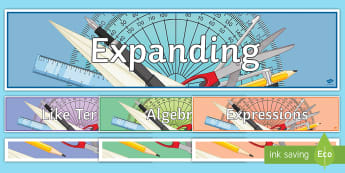 KS3 Algebra Unit 1 Display Pack - Algebra, expressions, display, terms, indices