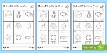 Find and Write the ea Words Differentiated Activity Sheets  - Phonics activity, phase , letters and sounds, ea sound, find the sound, sort the pictures, write the