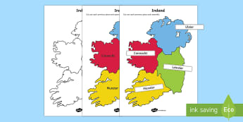 Build Ireland: Provinces and Counties Jigsaw Activity Sheets