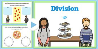 Maths KS1 Introducing Division Activity PowerPoint - maths, ks1
